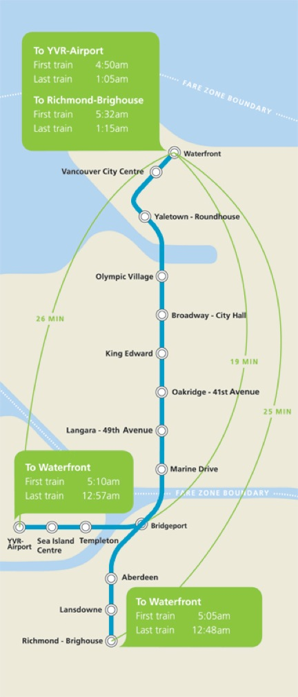 Canada Line Map