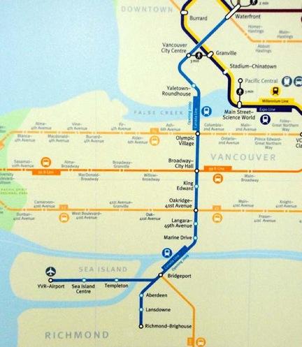 Canda Line map