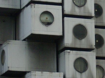 CAPSULE HOTEL WINDOWS