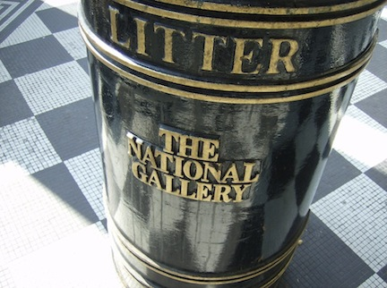 THE NATIONAL GALLERY LIITTER BIN