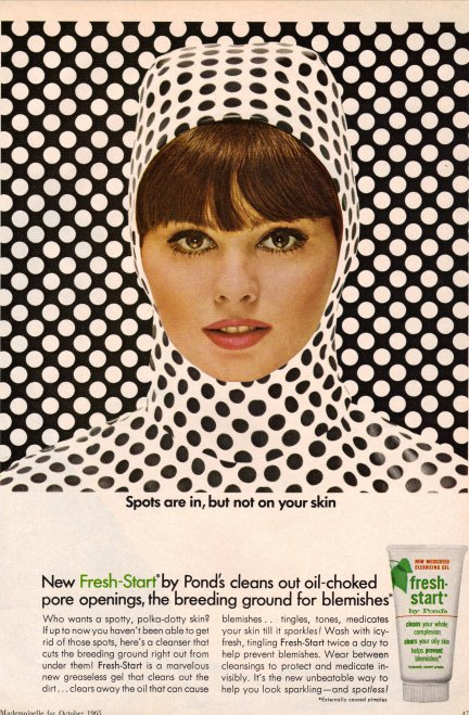 1960s ad for Fresh Start acne cream.