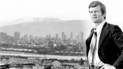 Art Phillips, Mayor of Vancouver, stands on the roof of Vancouver City Hall in November 1972. (The Globe and Mail)