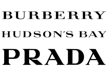 DESIGNkultur - bURBERRY HUDSON'S BAY + PRADA LOGO COMPARISON