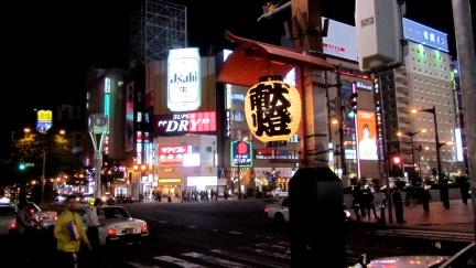 designKULTUR - Sapporo 2013 - Susukino Lights - 10 - with Lantern