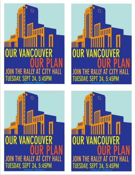 designKULTUR - Our Vanouver Our Plan - Rally at City Hall - September 24 2013 -