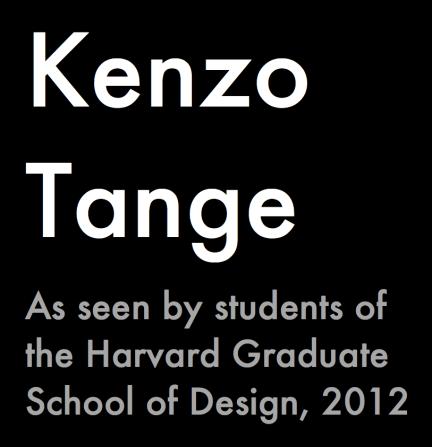 Tange:Harvard