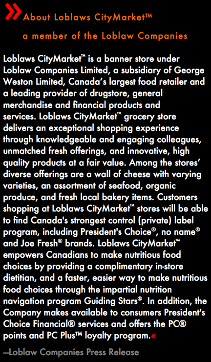 designKULTUR - Loblaws CItyMarket - North Vancouver - About Loblaws CityMarket