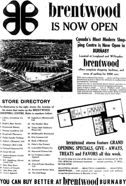 designKULTUR - Loblaws CItyMarket - North Vancouver - Brentwood-is-now-Open-Burnaby-Advertiser-1961