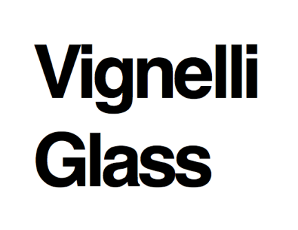 Vignelli Glass