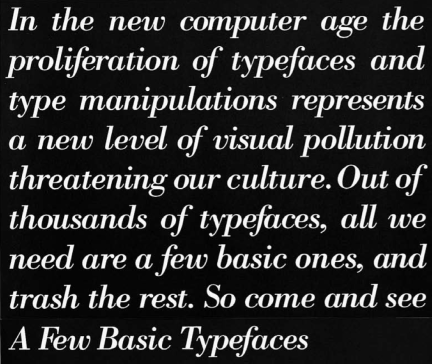 Vignelli on Typefaces 1