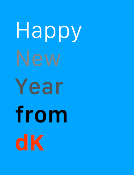 Happy New Year from dK